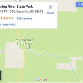 Roaring River Area Map